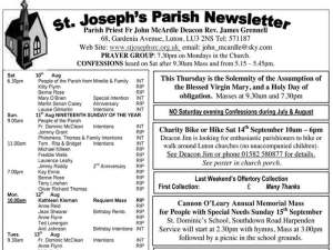 Parish Newsletter